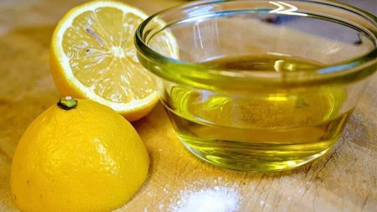 лимон и оливковое масло для печени