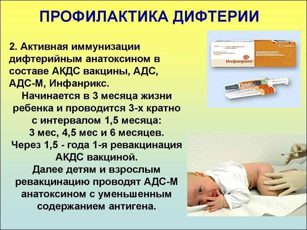 дифтерия меры предупреждения болезни