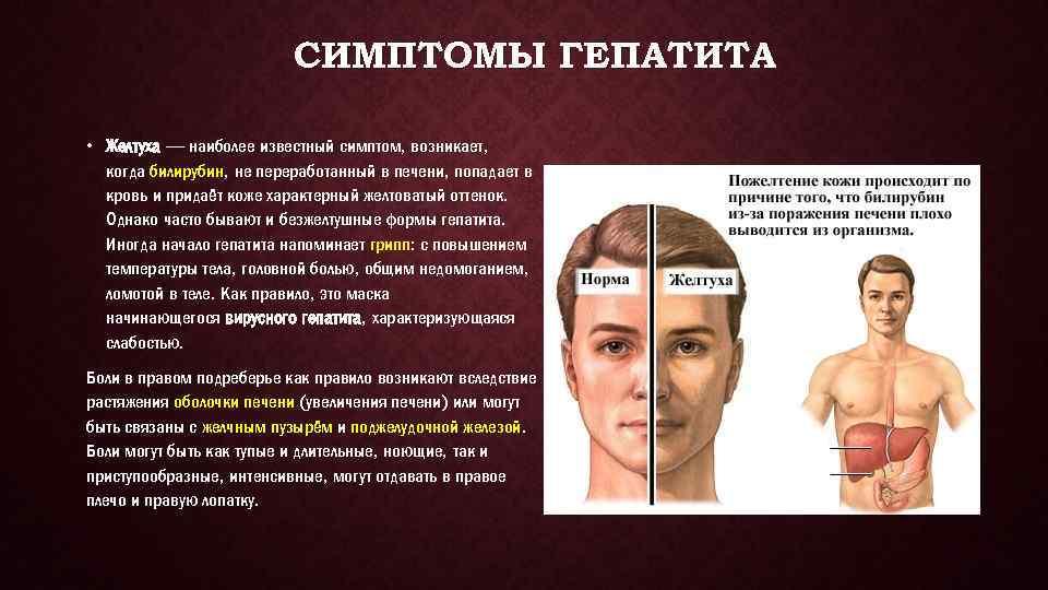 Основные симптомы вирусного гепатита с у мужчин