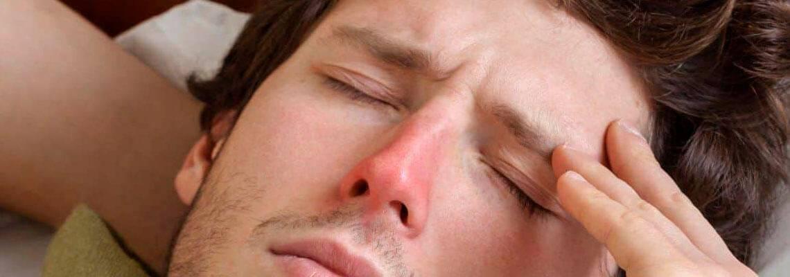 от насморка болит голова что делать