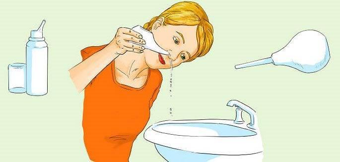 промывать нос солью и содой
