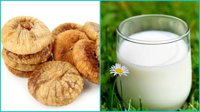 Молоко и инжир — замечательное народное средство против кашля