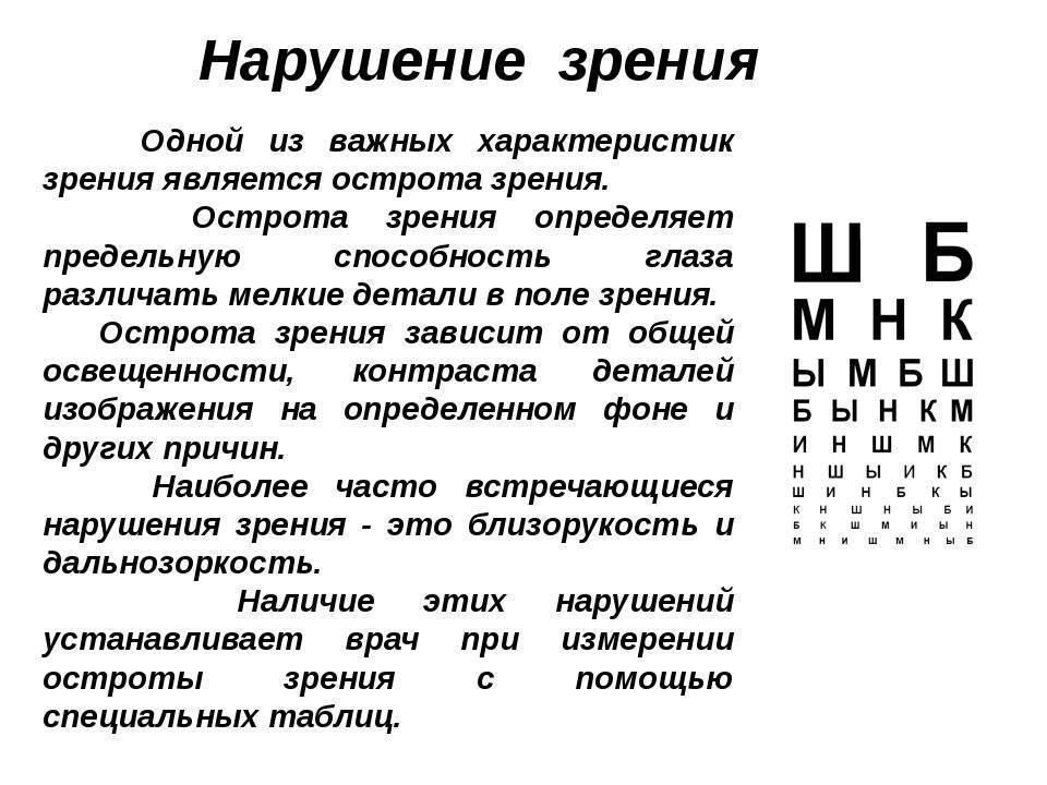 Зрение минус 0,5 или плюс 0,5