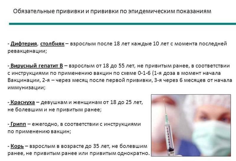 осложнения после прививки от дифтерии у взрослых