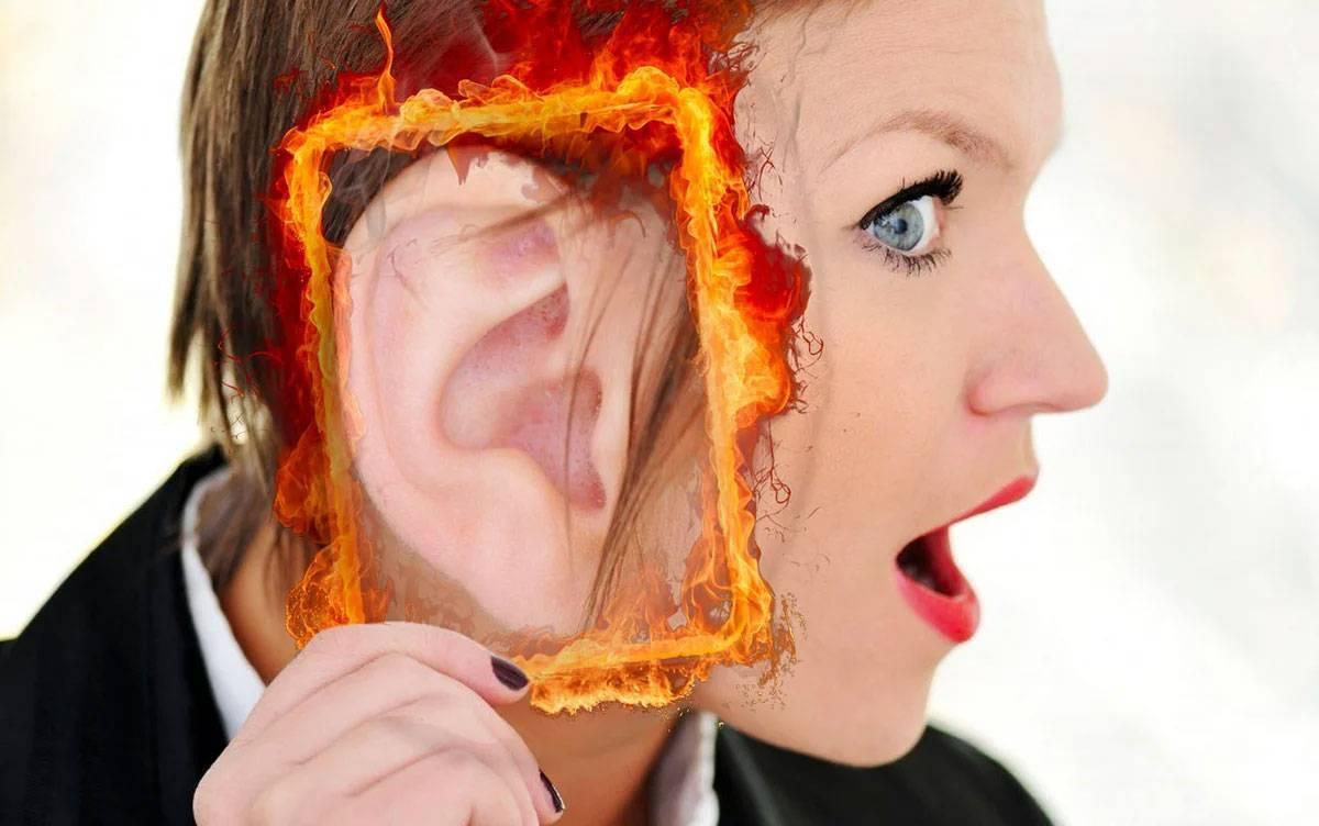 К чему горят уши и щеки одновременно