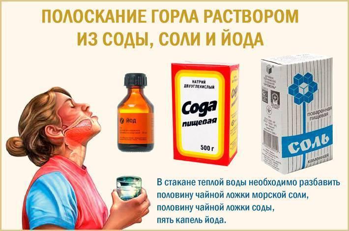 раствор соды и йода для полоскания горла