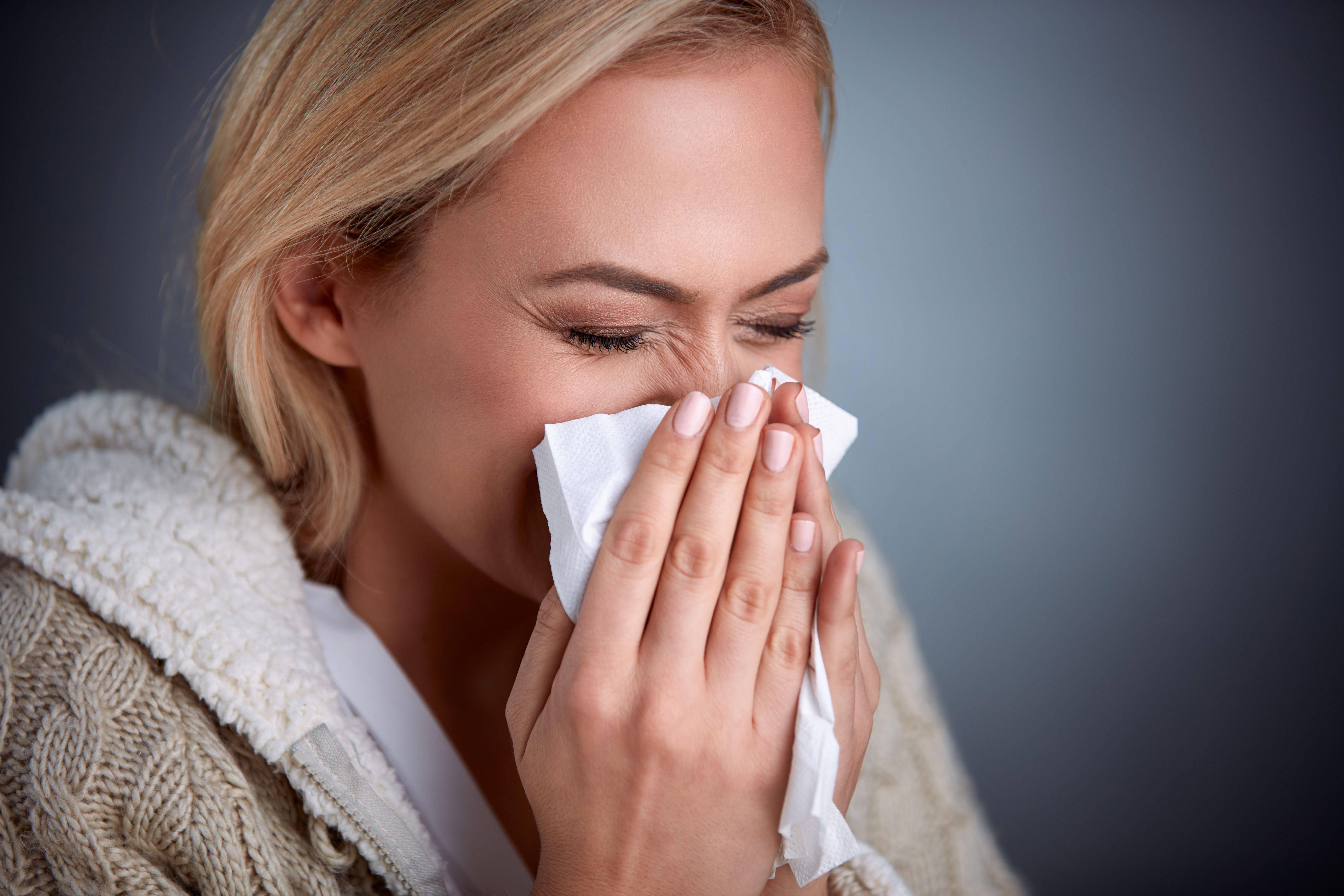 Вирус насморк сухой кашель