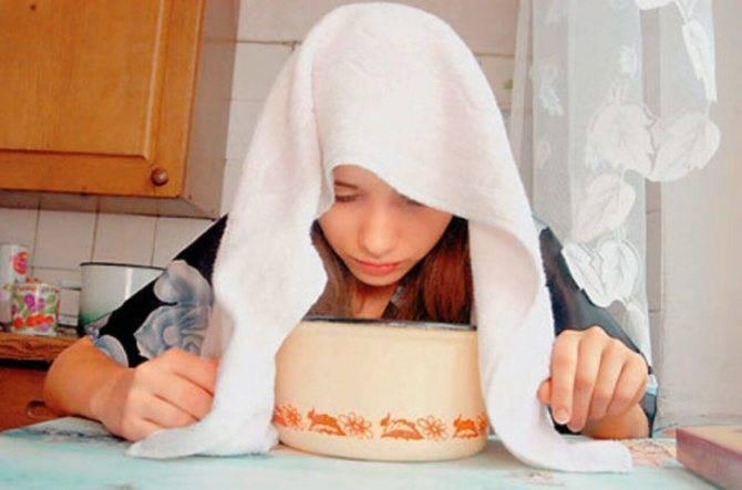 ингаляция картошкой при насморке