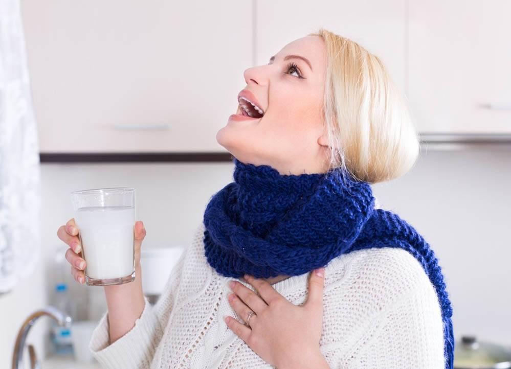 чем полоскать горло беременным