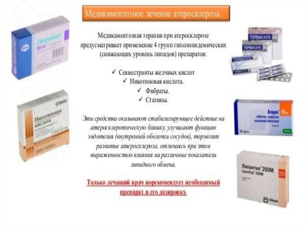 Лечение атеросклероза сосудов нижних конечностей лекарственными средствами