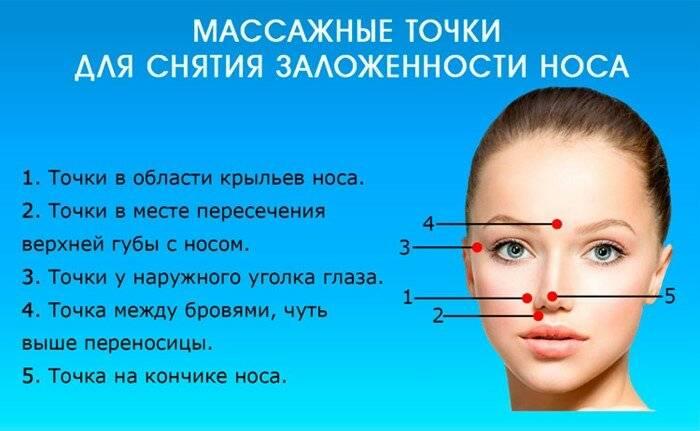 точечный массаж носа