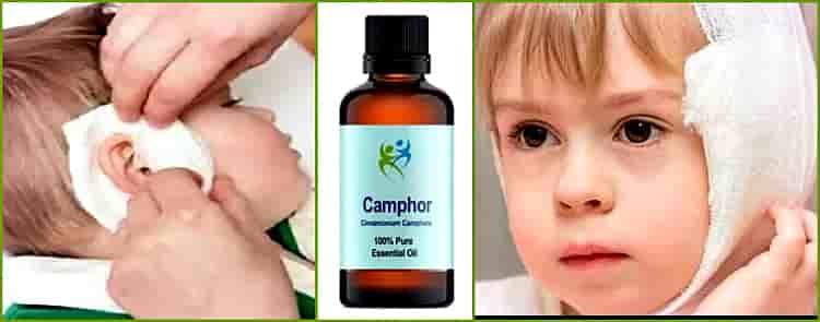 как капать камфорное масло в ухо