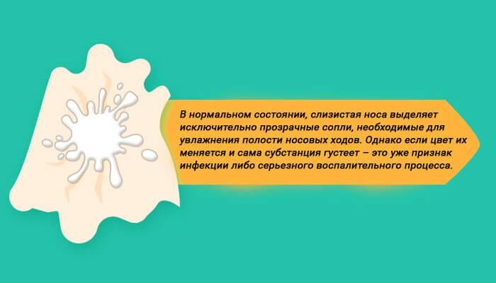 Сопли оранжевого цвета у взрослого: причины и лечение