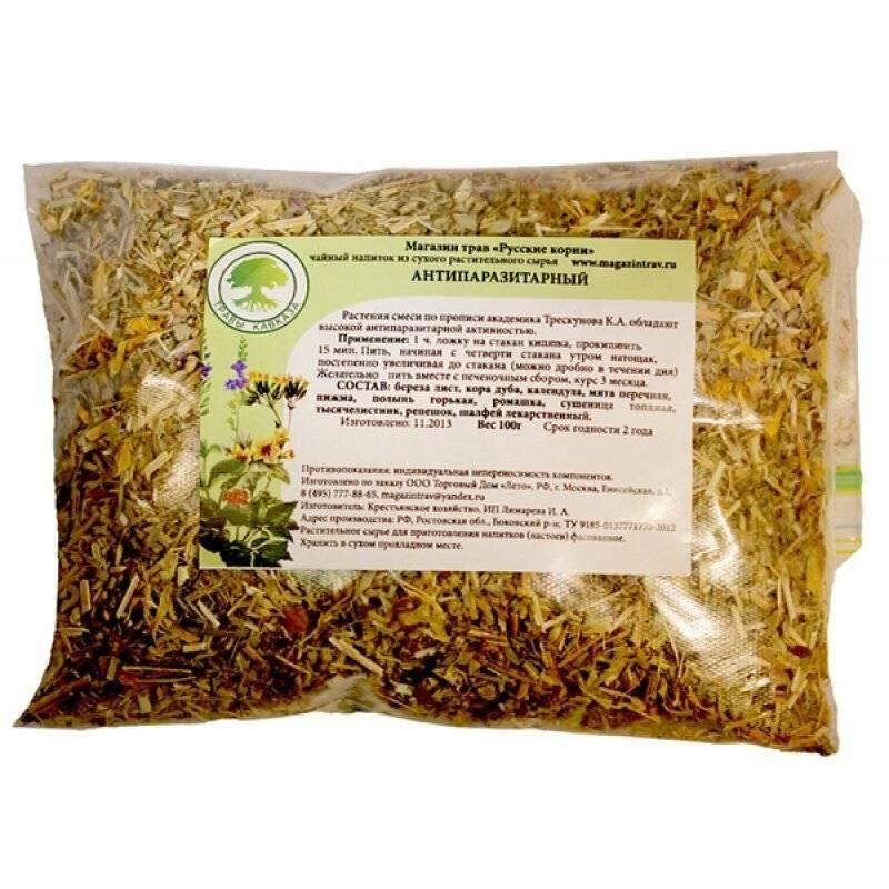 Травяные сборы при лечении гельминтозов