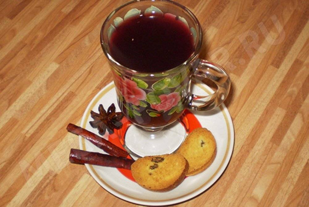 красное вино от кашля рецепт