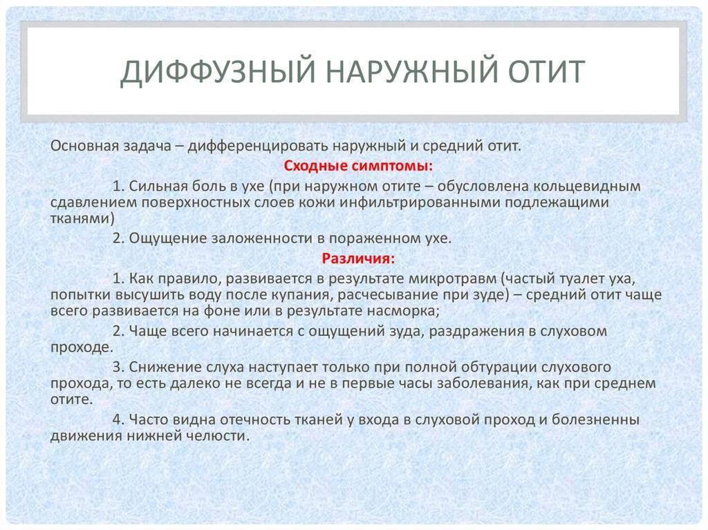 Наружный отит. причины, симптомы и лечение болезни :: polismed.com