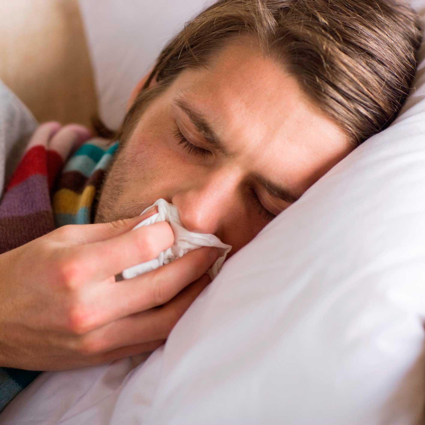 Лечение насморка и температуры у взрослого