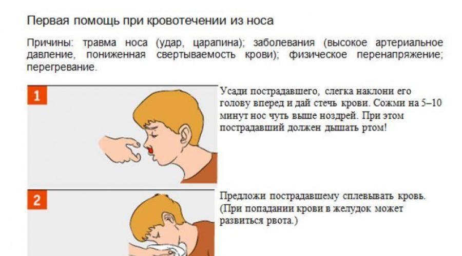 У ребенка из носа идет кровь: причины и первая помощь