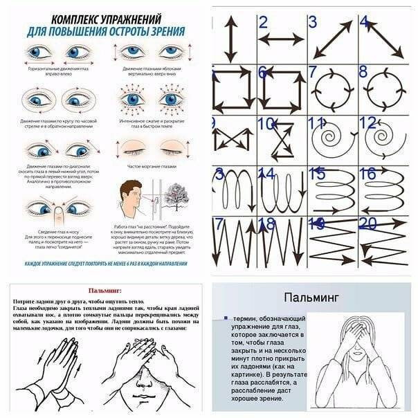 Упражнения для восстановления зрения по методу бейтса