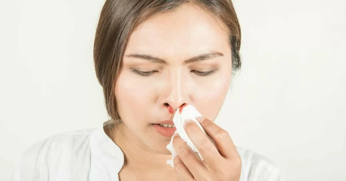 кровь в слизи из носа