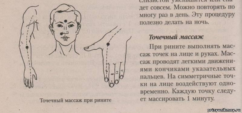 Точечный массаж как избавление от насморка