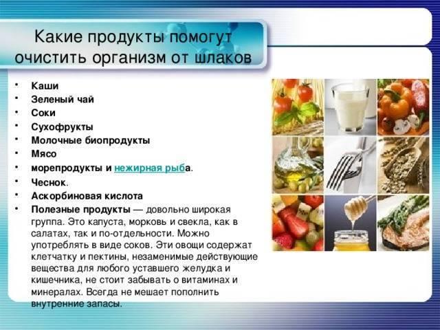 Полезные продукты для очищения печени