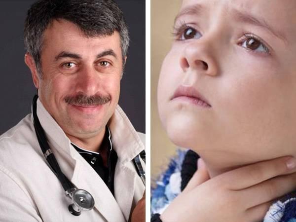 ларингит у детей лечение доктор комаровский
