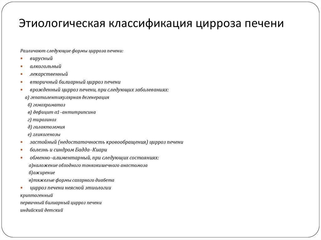 Этиология и патогенез цирроза печени