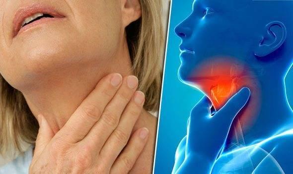 Болит шея или гланды слева