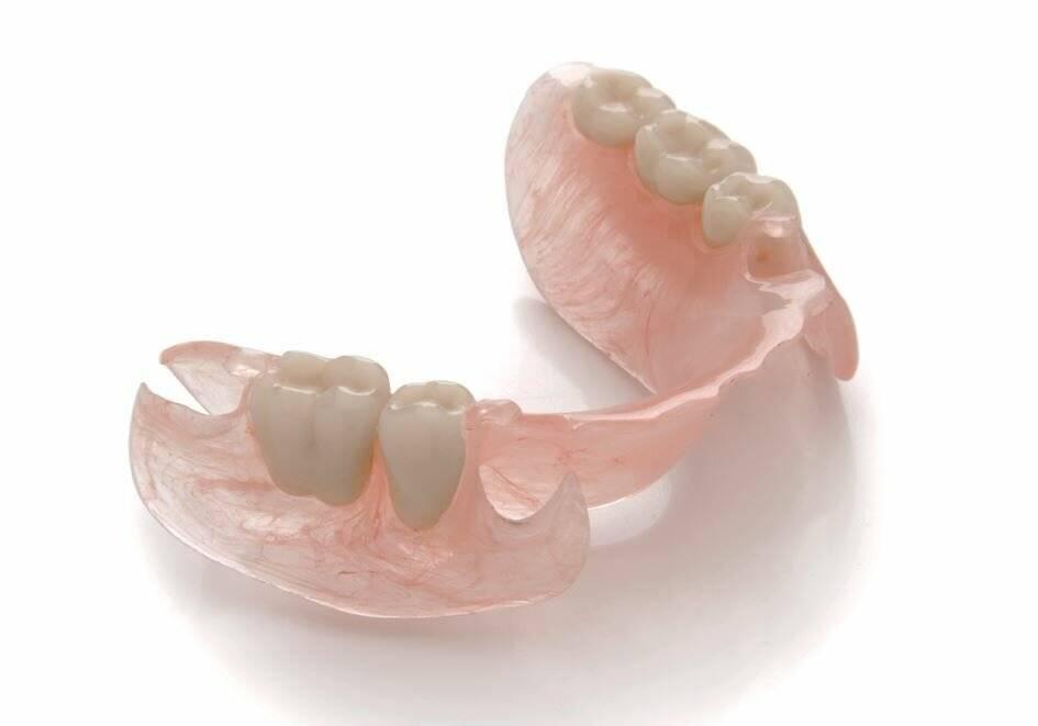 Съемные зубные нейлоновые протезы, цены, фото