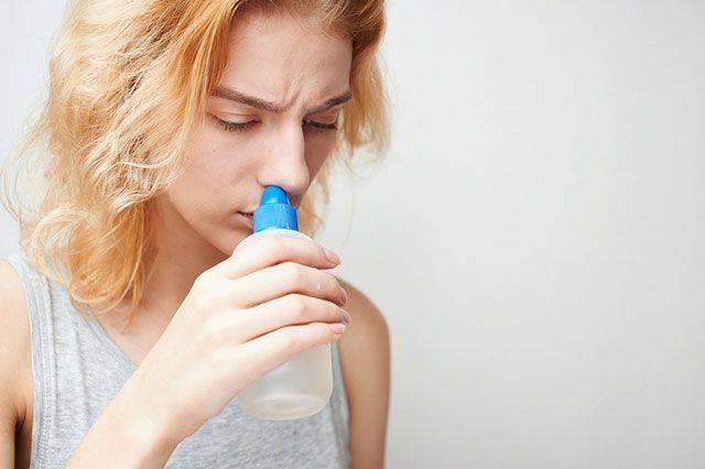 как промывать нос соленой водой при беременности