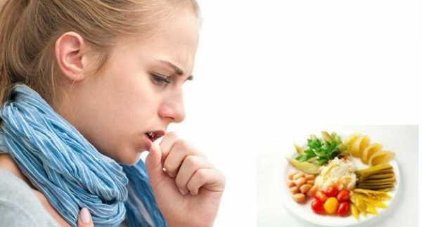 сильный кашель после еды