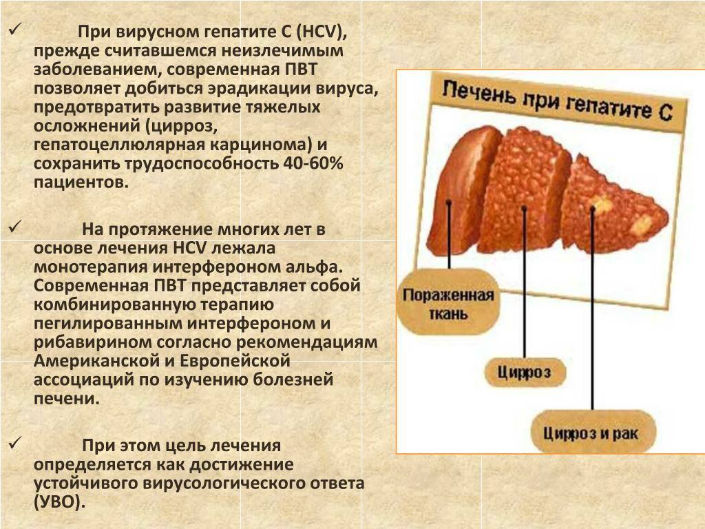 Хронический гепатит в и продолжительность жизни