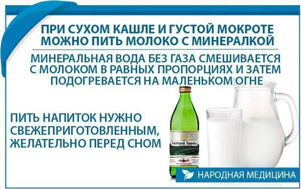 лечение кашля молоком