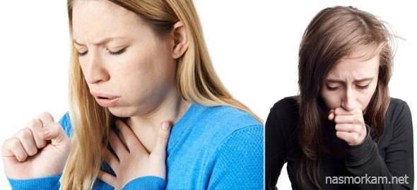 Боль и заложенность за грудиной, ком в горле и сухой кашель