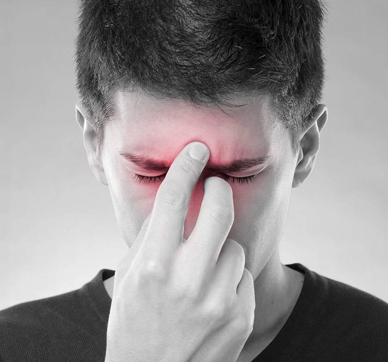 Болит нос при надавливании насморка нет