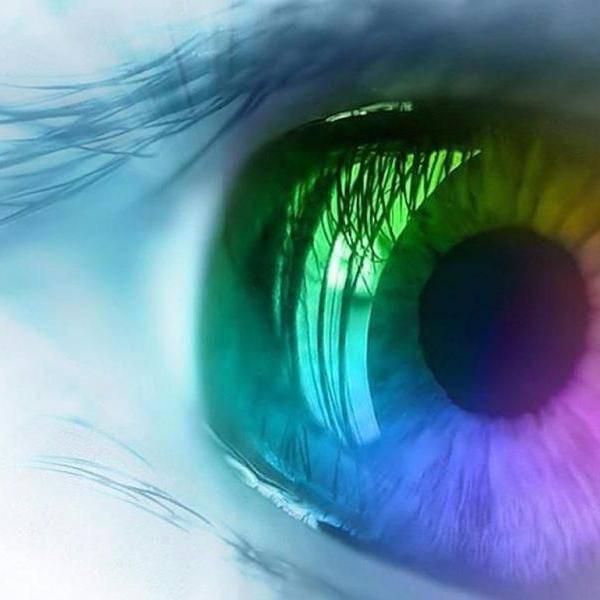 радужные круги в глазах