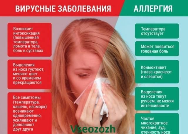 насморк и чихание без температуры у взрослого как лечить
