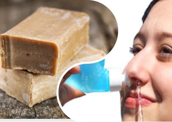 лечение насморка хозяйственным мылом