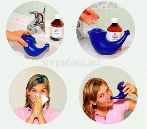 как промывать нос в домашних условиях шприцом