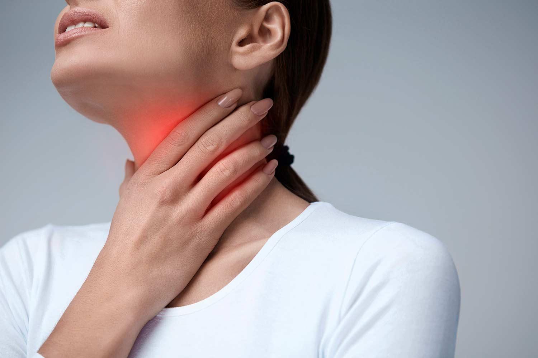 Болит горло с одной стороны при глотании и сухой кашель