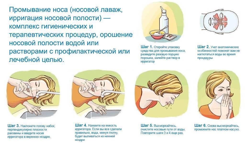чем промыть нос ребенку в домашних условиях