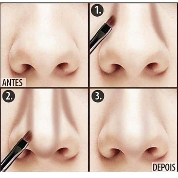 Как сделать нос визуально меньше с русской помощью нового макияжа.