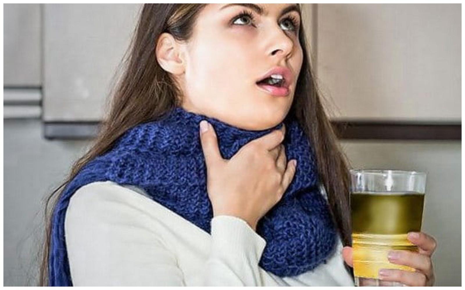 Ромашка от горла
