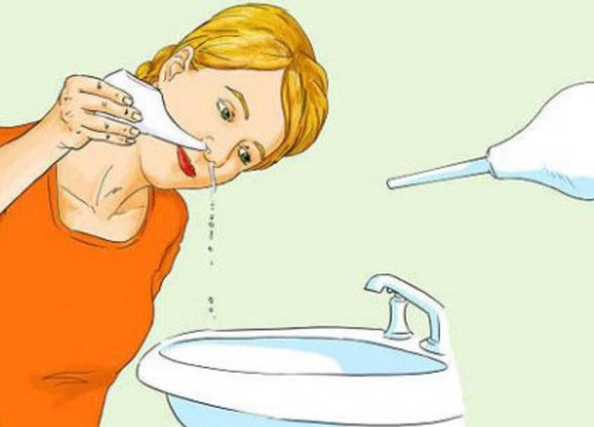 Промывание носа ребенку и взрослому
