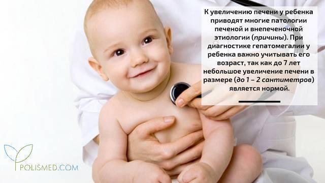 Гепатомегалия у ребенка