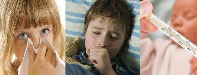 Высокая температура и сильный насморк у ребёнка