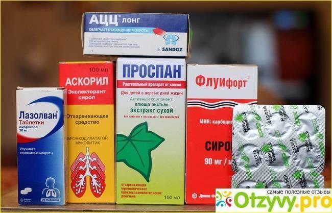 Таблетки от влажного кашля взрослым