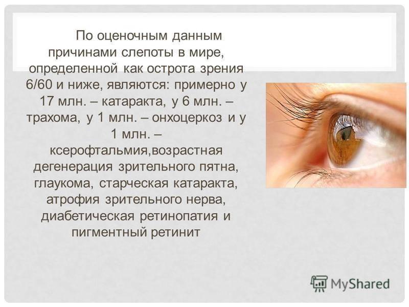 Внезапная кратковременная потеря зрения. слепота: причины и лечение