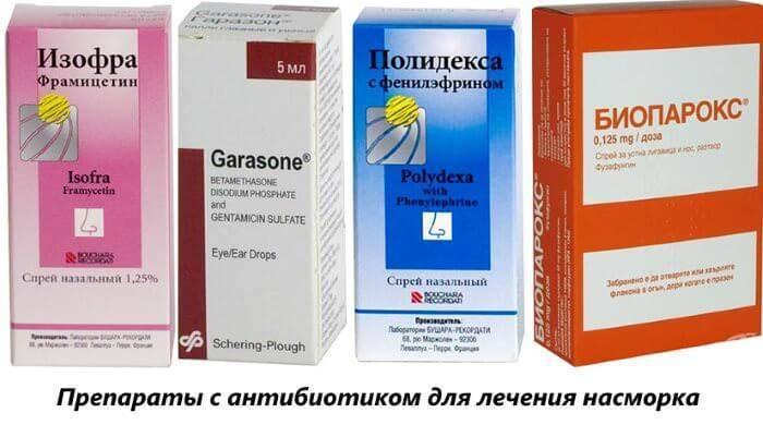 антибиотик от насморка взрослым